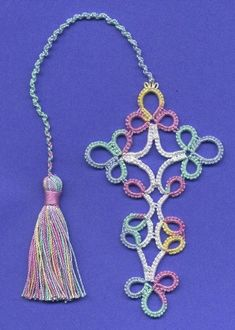 Image result for free needle tatting patterns for bookmarks