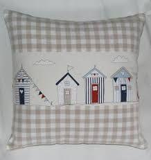 New Patchwork Cushion Ideas Beach Huts 15 Ideas Applique Cushions, Patchwork Cushion, Sewing Pillows, Diy Pillows, How To Make Pillows, Throw Pillows, Decorative Pillows, Scatter Cushions, Pin Cushions