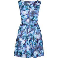 Almari Strappy Dress, Multi featuring polyvore, fashion, clothing, dresses, robe, blue dress, blue midi dress, floral print dress, sleeve maxi dress and floral midi dress