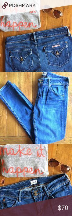 """{HUDSON} jeans A fabulous pair of comfy jeans by HUDSON. I can't remember the specific name of the style (and tag has been removed). ✏️ Measurements: 16 1/2"""" waist, rise 8"""", inseam 32"""". Excellent condition. Hudson Jeans Jeans Straight Leg"""