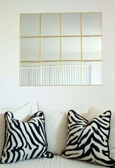 12 Clever & Beautiful Uses for Adhesive Strips & Hooks You Might Not Have Thought Of — Renters Solutions (Apartment Therapy Main) Dollar Tree Mirrors, Dollar Store Mirror, Renters Solutions, Window Pane Mirror, Ikea, Command Strips, Apartment Living, Apartment Therapy, Apartment Guide