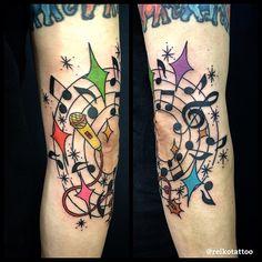 #music #tattoo #音符 #タトゥー #reikotattoo #studiokeen #名古屋 #大須 #矢場町