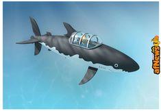Ecco il sottomarino squalo di Tintin! - http://www.afnews.info/wordpress/2018/03/11/ecco-il-sottomarino-squalo-di-tintin/