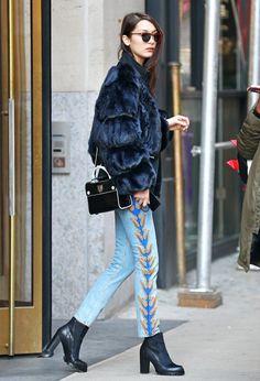 """Bella Hadid leaving Ralph Lauren fittings in New York City """