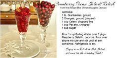 Duncan Farmstead: SEASONED SOUTHERN STYLE: Cranberry Pecan Salad/Relish