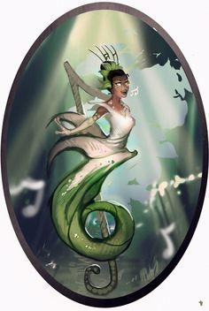 Fairy Tale Scrapbook, Tiana (Sound): Disney Elementals series by CeruleanRaven