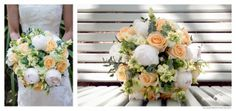 Lemon and peach wedding bouquet. Mckenzie Brown Photography » Blog