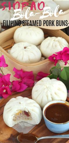 Siopao Bola-Bola is the Filipino version of Steamed Pork Buns. Made extra special with the addition of salted eggs and Chinese sausage. Filipino Dishes, Filipino Desserts, Filipino Recipes, Asian Recipes, Filipino Food, Asian Foods, Chinese Recipes, Pilipino Food Recipe, Siopao Recipe