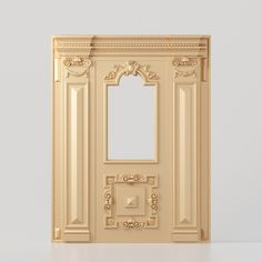 3D model of a classic door for production on CNC machines 3d Model Architecture, Classic Doors, Classic Interior, Columns, 3d Design, Cnc, Stairs, Woodworking, Carving
