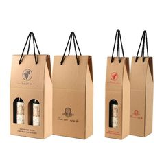Free Sample Recycled Single Layer Brown Corrugated Cardboard Empty Wine Boxes, Carton Wine Box