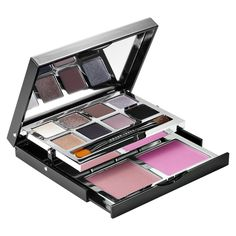 Shop Bobbi Brown's Deluxe Eye & Cheek Palette at Sephora. It includes eight eye shades, two blushes, and a dual-ended shadow/liner brush. Sparkle Makeup, Givenchy Beauty, Cosmetics & Fragrance, Matte Makeup, Thing 1, Highlighter Makeup, Makeup Palette, Beauty Make Up, Makeup Collection