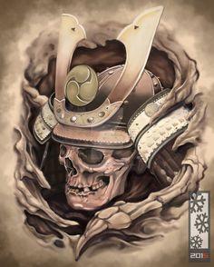Tattoos From Around The World – Voyage Afield Japanese Mask Tattoo, Japanese Tattoo Designs, Japanese Sleeve Tattoos, Shogun Tattoo, Samurai Mask Tattoo, Tattoo Studio, Tiki Tattoo, Martial, The Last Samurai