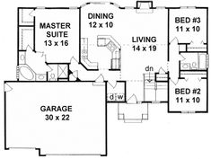 Plan No.354641 House Plans by WestHomePlanners.com 1464sqft