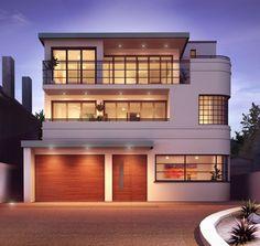 Art Deco new build – interesting! Art Deco new build – interesting! Plywood Furniture, Art Deco Furniture, Beautiful Architecture, Architecture Design, Art Deco Door, Streamline Moderne, Art Deco Lamps, Art Deco Buildings, Modern Art Deco