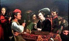 """Pietro Paolini, """"Os impostores"""", c. 1625, coleção particular.  http://gabineted.blogspot.com.br/2015/02/o-bas-fonds-do-barroco-  Graças a empréstimos excepcionais de coleções particulares e museus importantes como a National Gallery, em Londres, o Nationalmuseum em Estocolmo, a Galeria Nacional da Irlanda, o Louvre, a Galeria Borghese, Palazzo Barberini, o Rijksmuseum, em Amsterdã, entre outras O público vai descobrir as obras de grandes pintores"""