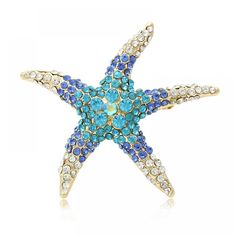 Quality Factory Direct Sale Blue and Red AB Crystal Rhinestones Pave Setting Starfish Brooch Pins for Women with free worldwide shipping on AliExpress Mobile Women's Brooches, Starfish, Crystal Rhinestone, Brooch Pin, Vintage Jewelry, Crystals, Red, Blue, Animals
