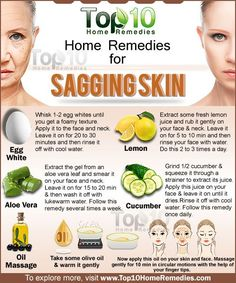 Home Remedies for Sagging Skin. Here are simple home remedies to lighten loose skin on face. #skincare