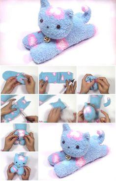 How to Make an Easy Sock Cat   UsefulDIY.com