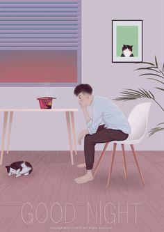 Waiting for the ramen! Anime Gifs, Cartoon Gifs, Anime Art, Night Gif, Good Night, Gif Lindos, Stock Design, Cute Couple Art, Sad Art