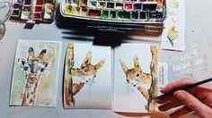 Es gibt bald wieder Giraffen- und Hörnchennachwuchs! Voraussichtlich morgen Abend werden sie gerahmt in den Klexshops zur Adoption stehen  Zu haben natürlich dann auch einzeln auf wandklex.etsy.com und wandklex.dawanda.com  Verwendetes Material @schmincke Künstlerfarben Horadam mit @winsorandnewton Aquarellpinsel auf @hahnemuehle Britannia 300g rauh Malerei und Produktfoto  @wandklex Kunstatelier  #wandklex #malerei #handgemalt #aquarell #hahnemühle #art #watercolor #watercolour #tier…