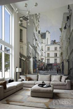 montmartrewallpaper | Messy Nessy Chic