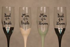 Champagne Flutes for Parents of the Bride and Groom