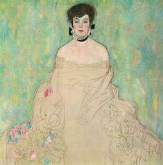 Portrait of Amalie Zuckerkandl. Gustav Klimt, 1918.