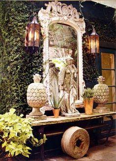 Great Outdoor Vignette! * Interiors Interiors Interiors * The Inner Interiorista