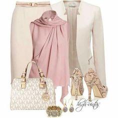 Crema y rosa pastel