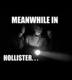 """Meanwhile in Hollister"" haha this is so true! When my mom and I went in their we couldn't hear each other and it was just so dark!! Lol"