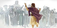 Noah preaches to wicked people