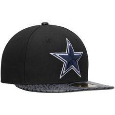 Men s Dallas Cowboys New Era Black Sting Screen 59FIFTY Fitted Hat 11e9d687d