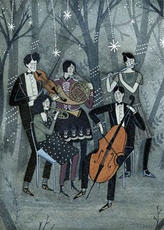 moonlight serenade print by ybryksenkova on Etsy, $15.00