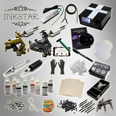 INKSTAR 2 Machine Tattoo Kit Machines Guns Equipment Ink Gun Set Tatoo TKI2B USA
