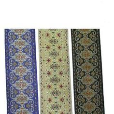"""2"""" (50mm) Ornate Jacquard Ribbon Trim x 1 yd ( Various Colours) in Crafts, Sewing & Fabric, Sewing 