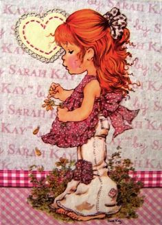 Sarah Kay Vintage Cards, Vintage Postcards, Sara Kay, Sweet Pic, Country Paintings, Holly Hobbie, Princess Of Power, Copics, Copic Markers
