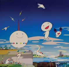 Planet 66. by MURAKAMI, Takashi. Edition of 300. Signed and numbered in pen lower right by Murakami.