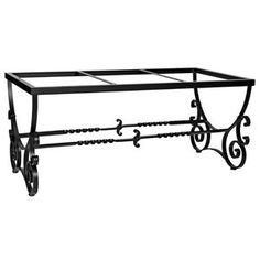 wrought iron dining table base - Google Search