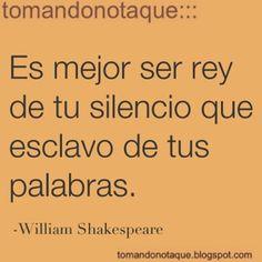 """como dice una canción: """"........si lo que vas a decir......no es más bello que el silencio....no lo vayas a decir"""""""