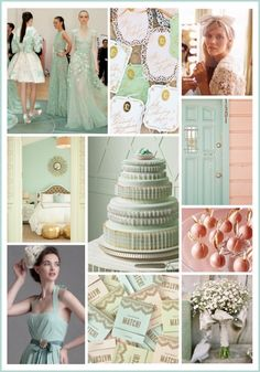 This mint and rose gold color palette is as refreshing as a scoop of gelato.