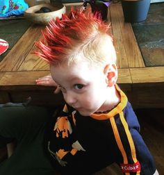 Aug 2019 - awesome and edgy mohawk for kids.Mohawk Hairstyles for kids.stylish and awesome hairstyles for kids. Little Boy Mohawk, Boys Mohawk, Undercut Hairstyles, Party Hairstyles, Hairstyles Haircuts, Modern Hairstyles, Crazy Hair Day At School, Crazy Hair Days, Mens Undercut Hairstyle