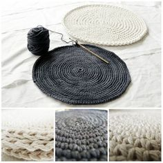 How to make FLAT circles: SINGLE CROCHET CIRCLES (sc)...Multiples of 6 sc. Start with 6 sc and increase 6 sc per round. HALF DOUBLE CROCHET CIRCLES (hdc)...Multiples of 8. DOUBLE CROCHET CIRCLES (dc)...Multiples of 12. ❥ 4U // hf: