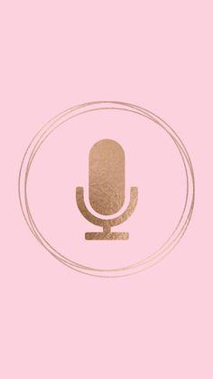 Moda Instagram, Pink Instagram, Instagram Logo, Instagram Fashion, Cute Pastel Wallpaper, Emoji Wallpaper, Microphone Icon, Pink Highlights, Story Highlights