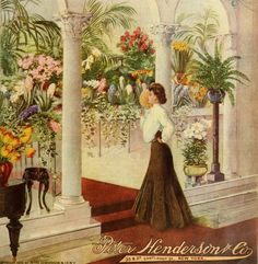 Peter Henderson & Co seed catalogue cover c. 1905 - detail