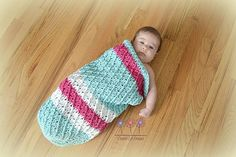 Ravelry: Mini Harlequin Baby Cocoon or Swaddle Sack pattern by Crochet by Jennifer