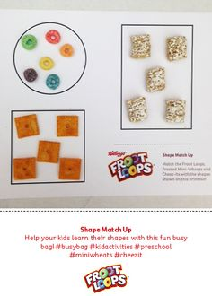 Help your kids learn their shapes with this fun busy bag! #busybag #kidactivities #preschool #miniwheats #cheezit