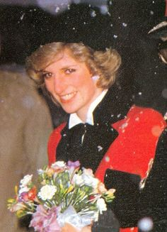 February 8, 1985: Princess Diana visiting the foundation for the study of infant deaths at Peterhouse College in Cambridge.