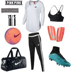 A fashion look from October 2015 featuring NIKE t-shirts, adidas activewear pants と NIKE sports bras. Browse and shop related looks.