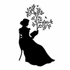 Lady silhouette {laminas en blanco y negro}