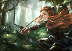 Tauriel by EM-MIKA - I don't even like Tauriel, but this is gorgeous.